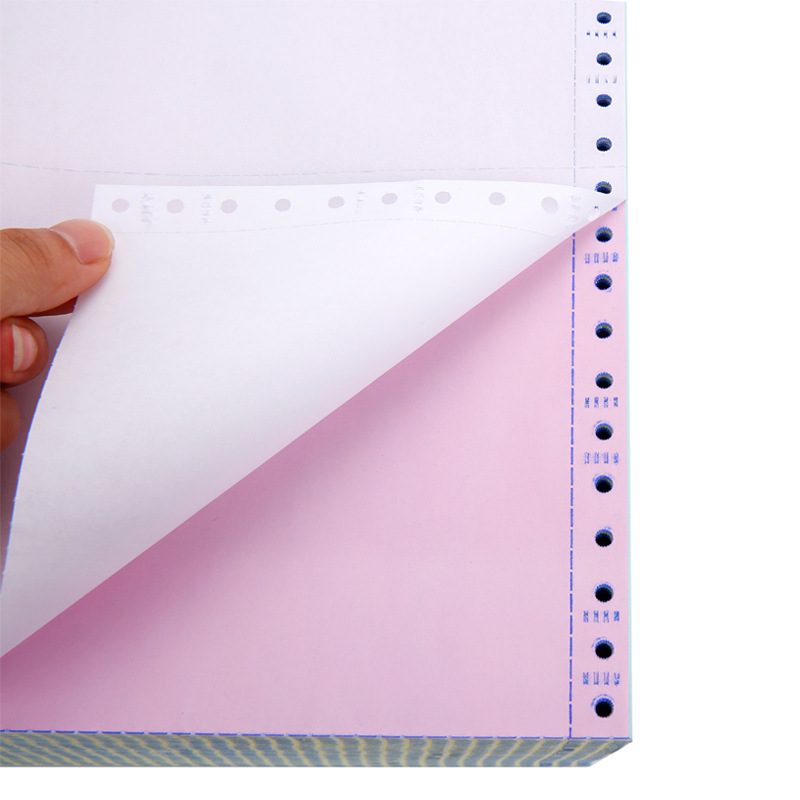 Continuous computer printing paper